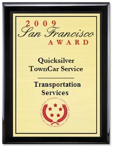 2009 Award for best San Francisco limousine service